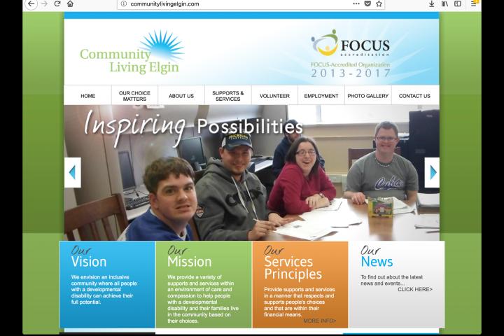 Community Living Elgin website